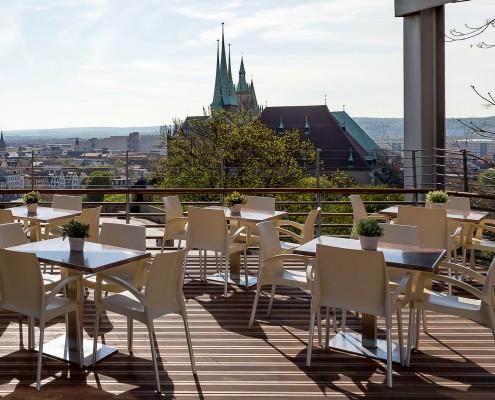 Terrasse Restaurant Glashütte Erfurt